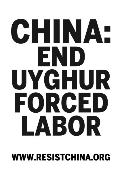china: end uyghur forced labor