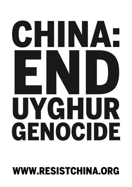 china: end uyghur genocide
