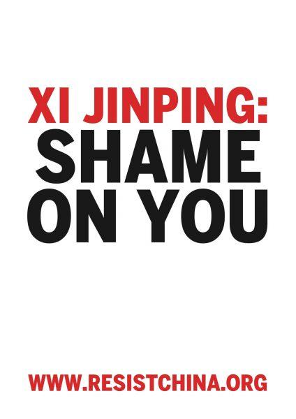 xi jinping: shame on you